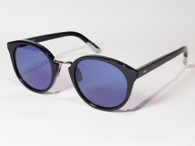 A.D.S.R.(エーディーエスアール) DARRYL [ ダリル ] 01 ( Shiny Black / Silver Metal / Blue & Dark Smoke Lens )