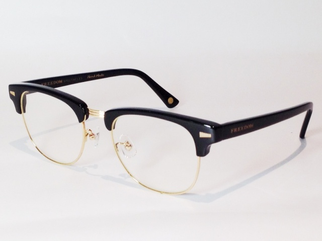 FREEDOM SPECTACLES (フリーダムスペクタクルス) BAKER  COLOR. 01 ( BLACK - GOLD / CLEAR )