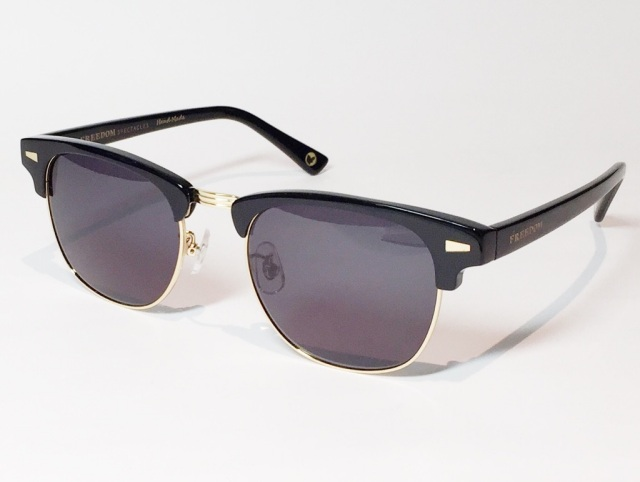 FREEDOM SPECTACLES (フリーダムスペクタクルス) BAKER  COLOR. 02 ( BLACK - GOLD / GREY )