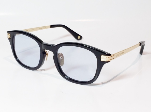 FREEDOM SPECTACLES (フリーダムスペクタクルス) LEO  C.03 ( Black / Light Blue )