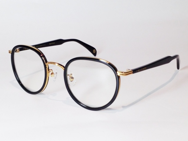 FREEDOM SPECTACLES (フリーダムスペクタクルス) MARLON  COLOR. 10 ( BLACK - GOLD / CLEAR )