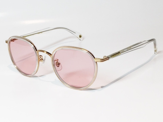FREEDOM SPECTACLES (フリーダムスペクタクルス) MARLON  COLOR. 15 ( CLEAR - GOLD / PINK )