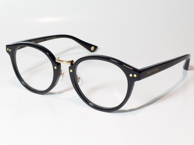 FREEDOM SPECTACLES (フリーダムスペクタクルス) MARTIN  COLOR. 01 ( Black - Yellow Gold  / Clear )
