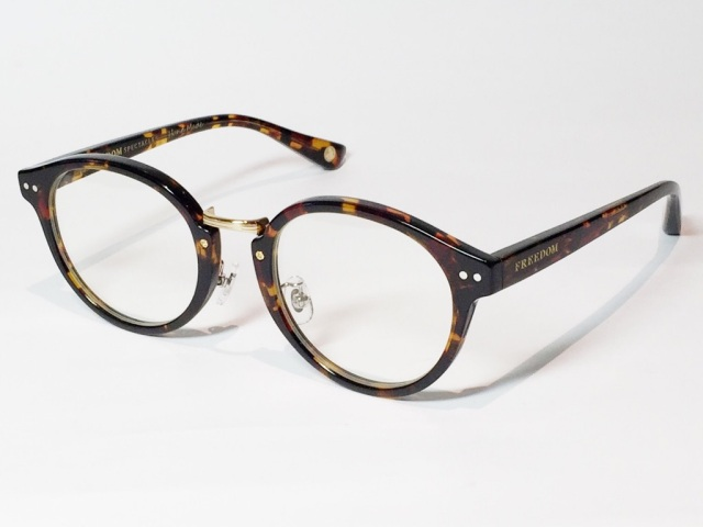 FREEDOM SPECTACLES (フリーダムスペクタクルス) MARTIN  COLOR. 05 ( Tortoise - Yellow Gold  / Clear )