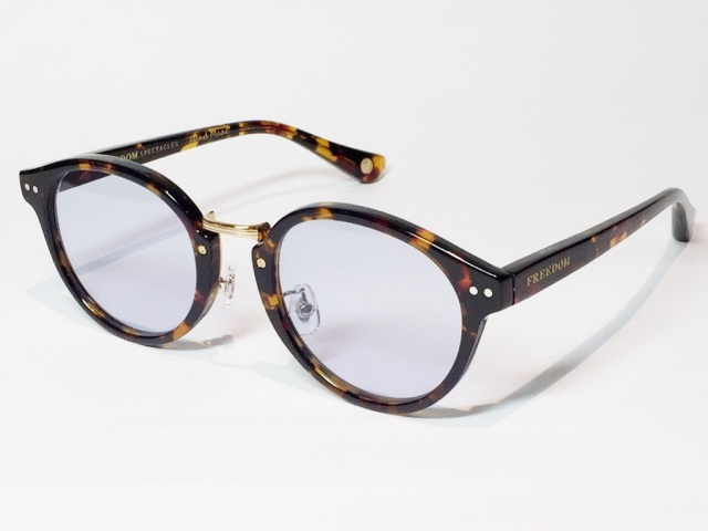 FREEDOM SPECTACLES (フリーダムスペクタクルス) MARTIN  COLOR. 06 ( Tortoise - Yellow Gold  / Light Blue )