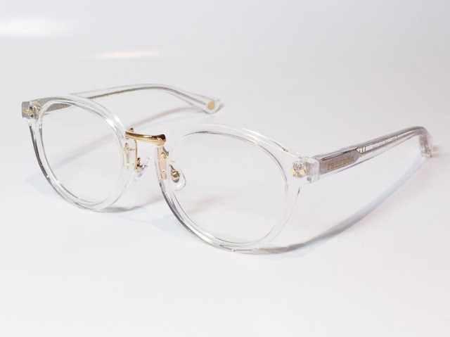 FREEDOM SPECTACLES (フリーダムスペクタクルス) MARTIN  COLOR. 08 ( Clear - Yellow Gold  / Clear )