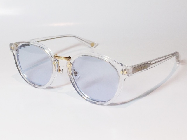 FREEDOM SPECTACLES (フリーダムスペクタクルス) MARTIN  COLOR. 09 ( Clear - Yellow Gold  / Light Blue )