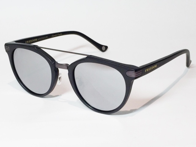 FREEDOM SPECTACLES (フリーダムスペクタクルス) POWELL  COLOR. 04 ( Matte Black - Matte Dark Gunmetal / Silver Mirror )