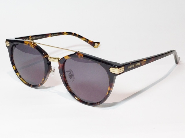 FREEDOM SPECTACLES (フリーダムスペクタクルス) POWELL  COLOR. 05 ( Tortoise - Yellow Gold / Grey )