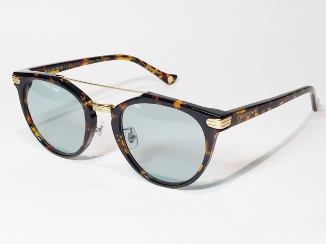 FREEDOM SPECTACLES (フリーダムスペクタクルス) POWELL  COLOR. 06 ( Tortoise - Yellow Gold / Light Green )