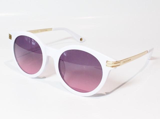 FREEDOM SPECTACLES (フリーダムスペクタクルス) ROSA 2  C.05 ( White / Pink )
