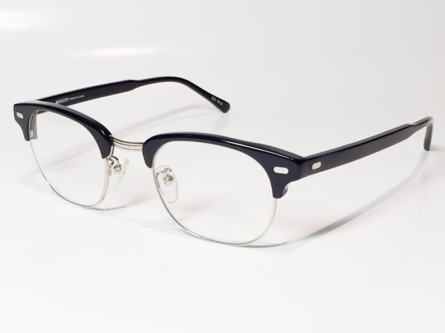MOSCOT(モスコット) YUKEL  size:48 ( BLACK - SILVER / CLEAR )