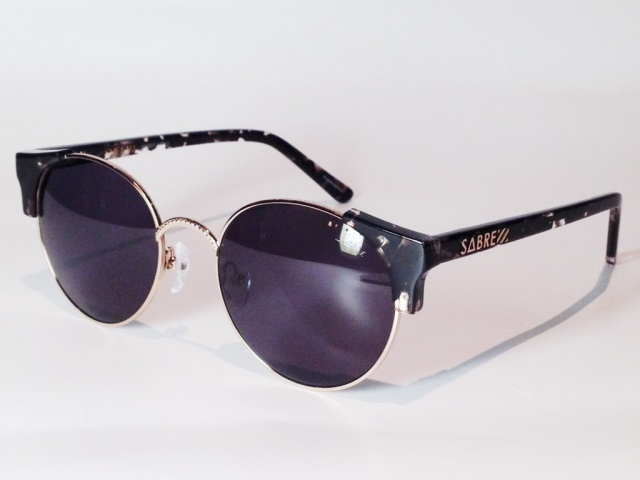 SABRE(セイバー) SHEENA SV207-1771J ( BLACK - TORTOISE - SHINY GOLD / GREY LENS)