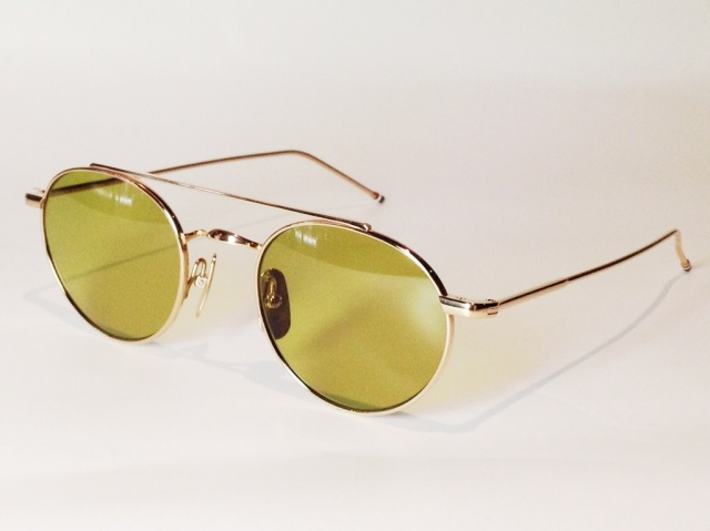 THOM BROWNE(トム ブラウン) TB-101-B-T-GLD-49 (12K GOLD / DIRTY GREEN )